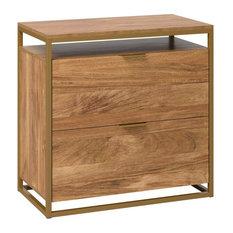 Sauder International Lux 2 Drawer Wooden Lateral File Cabinet in Sindoori Mango