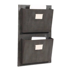 Pemberly Row 2 Slot Wall Mounted Mailbox in Rustic Gray