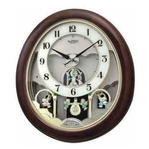 Small World Musical Motion Wall Clock Midnight Dream