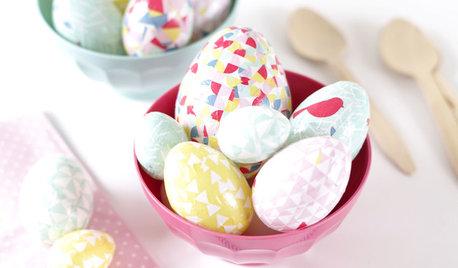 DIY : Décorez vos œufs de Pâques avec du papier pour collage