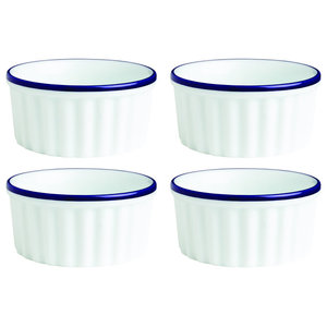 Fairmont and Main Canteen Ramekin Dishes, Set of 4, Large