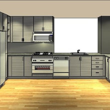 Dura Supreme Contemporary Textured Thermofoil Kitchen by Alan Clement