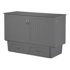 the Atlantic Furniture - Nantucket Murphy Bed Chest , Atlantic Gray, Queen - Murphy Beds