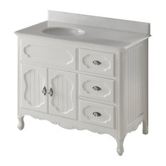 Victorian Knoxville Bathroom Sink Vanity, White, 42""