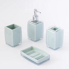 houzz - set di accessori per il bagno moderno - Accessori Per Bagni Moderni
