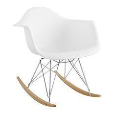 Adaire Plastic Lounge Chair/White