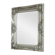 Melody Maison - Ornate Silver Wall Mirror, 52x42 cm - Wall Mirrors