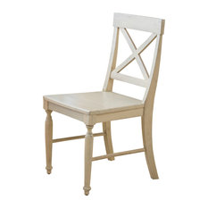 wooden dining room chairs. GDFStudio  Leyden Antique White Wood Dining Chairs Set of 2 Wooden Room Houzz