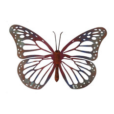 Rustic Metal Large Speckled Wood Butterfly Wall Decor
