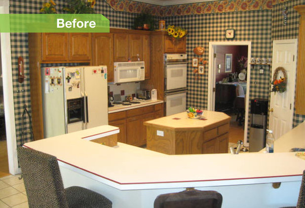 how to gloss kitchen cabinets 24 dramatic kitchen makeovers 7255
