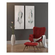Plume Canvas Art, Set of 2