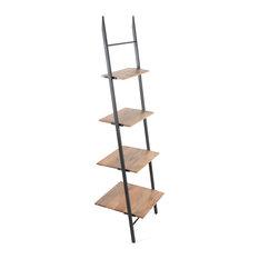 Claret Small Ladder Bookcase