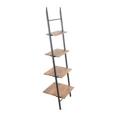 Claret Small Ladder Bookcase