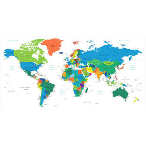 World Map Interactive Map, Wall Decal - Contemporary - Wall Decals ...