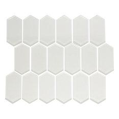 "10""x12"" Stretched Hexagon Metallic Glass Tile"