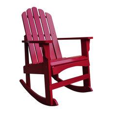 Marina Porch Rocker, Chili Pepper   Outdoor Rocking Chairs