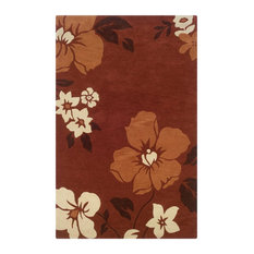 """Linon Trio With A Twist 1'10"""" x 2'10"""" Hand Tufted Rug in Rust and Pumpkin"""