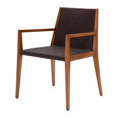 Spirit Armchair, Red Leatherette