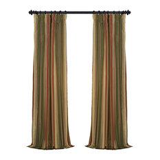 Exclusive Fabrics U0026 Furnishings, LLC   Mirage Faux Silk Taffeta Stripe  Curtain Single Panel,