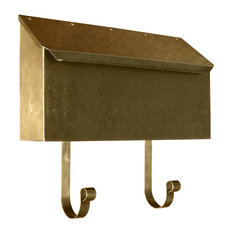 Provincial Collection Brass Mailboxes, Horizontal, Antique Hammered Brass
