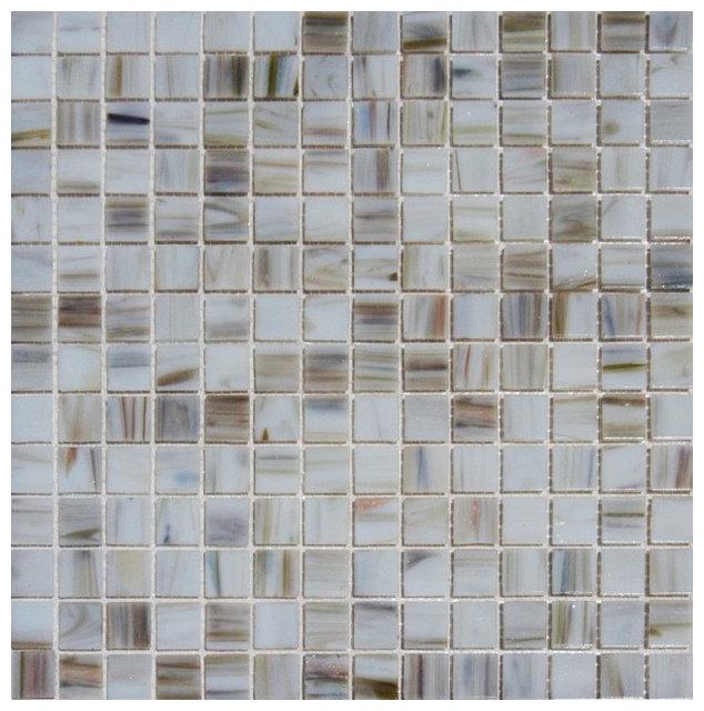Ivory Iridescent Mosaic Gl Tile Sample