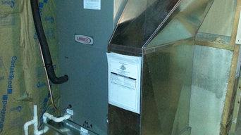 Newly installed HVAC equipment