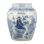 Q 39 ing double happiness porcelain jar asian artwork for Asian furniture westmont il