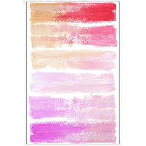 Marsala Paint Stripes By Linda Woods Giclee Print On Gallery Wrap Canvas Contemporary Prints And Posters By Tangletown Fine Art