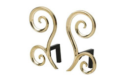 Arteriors Home, Libby Andirons, Set of 2, 6011