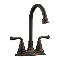 Eden 2-Handle Bar Faucet for Kitchen Sink, 2.1 GPM, Oil Rubbed Bronze Finish