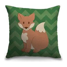 """Fox - Woodland Creatures"" Outdoor Pillow 16""x16"""