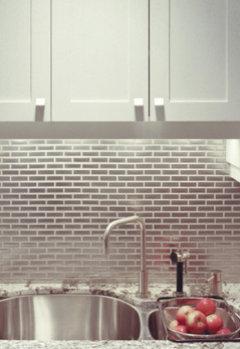 1935 Streamline Art Deco Kitchen Tile Backsplash