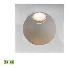 Zone 1 Light Steplight in Aluminum with Opal White Glass Diffuser
