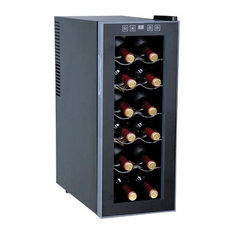 Thermo-Electric Slim Wine Cooler, 12-Bottle