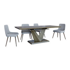 Contemporary Butterfly Leaf Dining Table