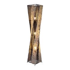 Beige and Black Handmade Modern Floor Lamp