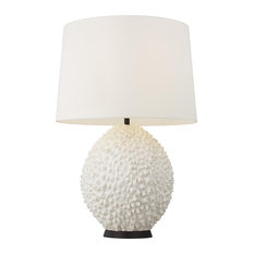 Feiss Anhdao 1-Light Table Lamp - Aged Iron/Matte White
