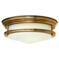 "Hadley 12"" Interior Ceiling Flush Mount, Brushed Bronze, LED"