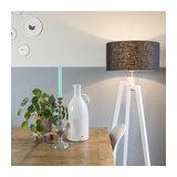 Floor Lamp Tripod Puros White with 50cm Black Shade