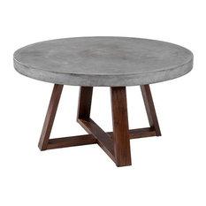 Rustic Concrete Coffee Table