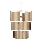 Wells 5-Light Foyer, Aged Brass