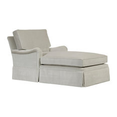 London, Boxed Back Chaise With Skirt, Charcoal