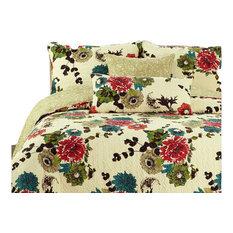 Tache 3-Piece 100% Cotton Spring Country Garden Bedspread Set, Full