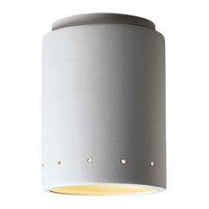 Radiance Cylinder/Perfs Flush-Mount, Bisque