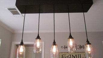 Rectangle Mason Jar Light/Chandelier