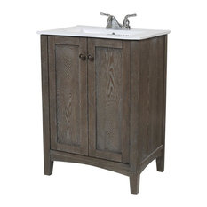 Elegant Furniture U0026 Lighting   Elegant Rustic Weather Oak Bathroom Vanity   Bathroom  Vanities And Sink