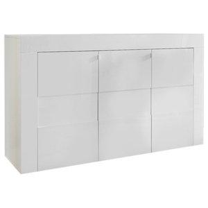 Easy 3-Door High Gloss Sideboard, 138 cm