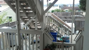 Back Porch Deck With Staircase
