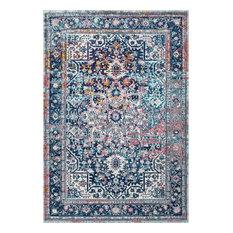 """Persian Vintage Raylene Area Rug, Blue, 6'7""""x9'"""