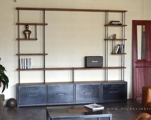 Nos bibliothèques étagères de style industriel